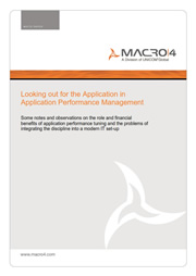 Looking out for the Application in Application Performance Management whitepaper image